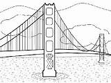 Bridge Gate Golden Coloring Printable Template Francisco San Monet Drawing Sheets Freeprintablecoloringpages Sketch Specify Preschool sketch template