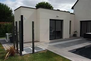 extension en toit plat bruz wwwami constructionfr With maison toit plat en l 17 le pool house de piscine