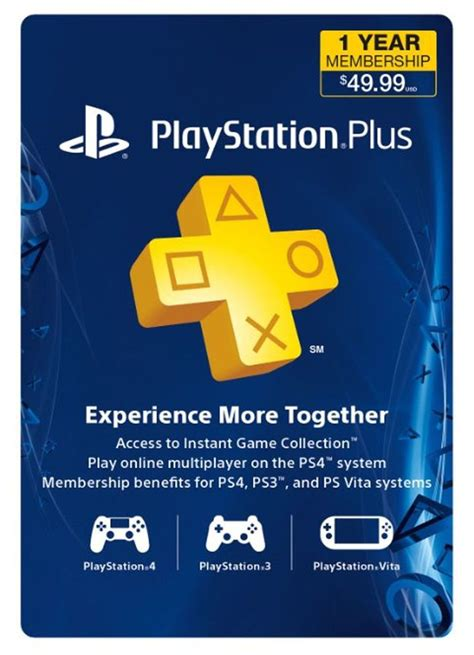 sony playstation card year membership ps ps ps