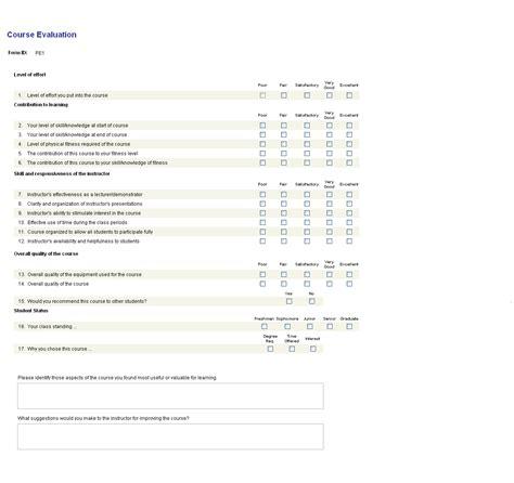 college teacher evaluation form course evaluations brandeis university