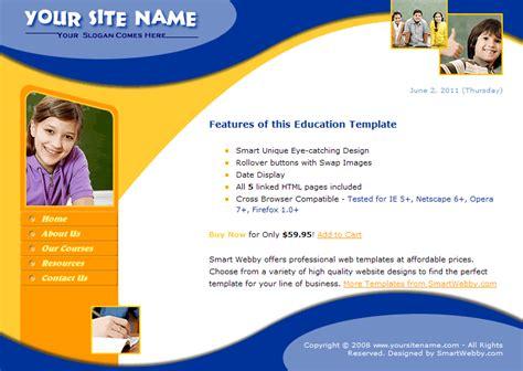 html education templates free smart education template