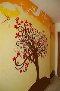 Arbre De Vie Deco : fresque murale arbre de vie deco pinterest ~ Teatrodelosmanantiales.com Idées de Décoration