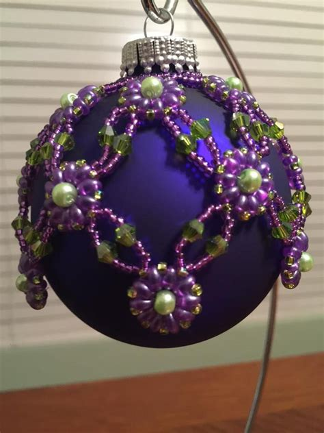 1108 best beaded christmas tree ornament images on
