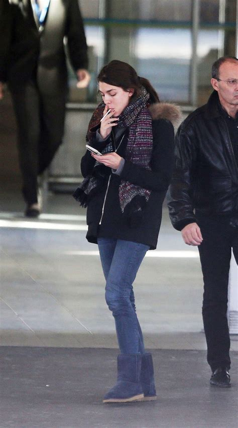 charlotte casiraghi arrives  airport  nice kayuty