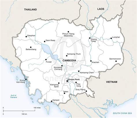 vector map  cambodia political  stop map
