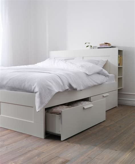 Ikea Bett by Brimnes Bed Frame With Storage White Ikea Beds With