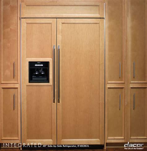 dacor ifdbol   built  side  side refrigerator   cu ft capacity