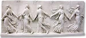 Greek Roman wall decor, Bacchantes Dancing Maidens Wall