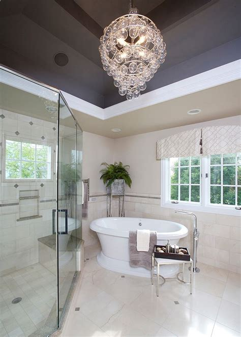 bathroom chandeliers   sophisticated addition