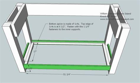 nane  woodworking plans kitchen island