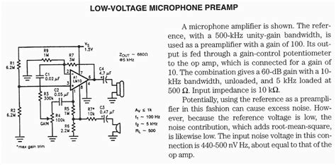 Audio Preamp Circuit Diagrams Schematics