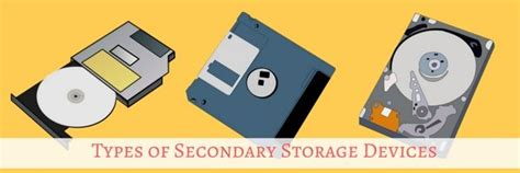 Types Of Secondary Storage Devices In Computers