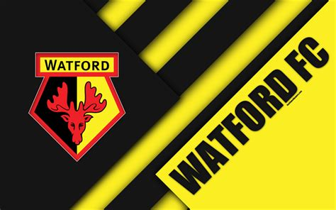 Download Wallpapers Watford Fc, Logo, 4k, Material Design