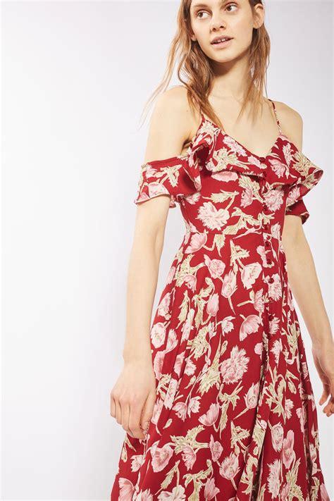 Hanky Hem Floral Dress Topshop