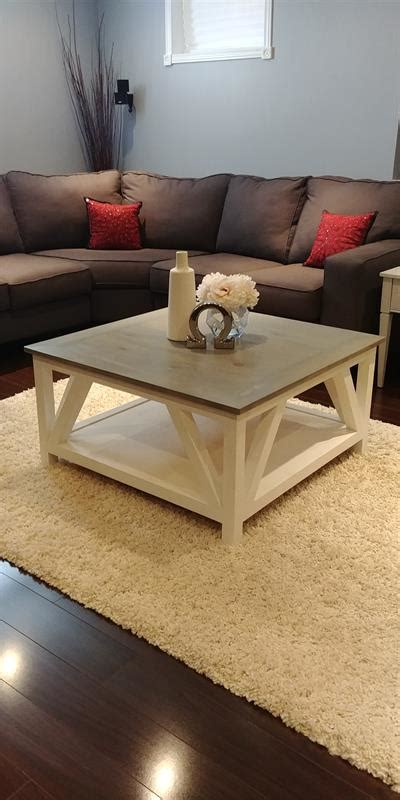 Free shipping on orders over $35. Modern Farmhouse Square Coffee Table - buildsomething.com