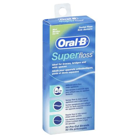 oral  superfloss dental floss mint  strands health wellness oral care flossing
