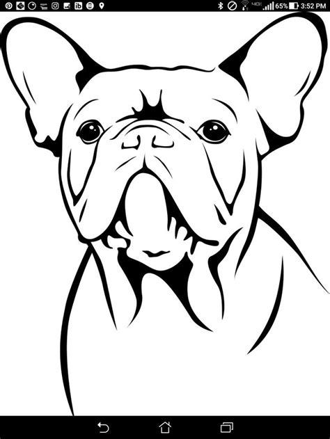 french bulldog pumpkin stencil dog coloring page puppy