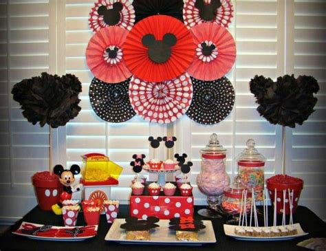 Mickey Mouse Decorations by Mickey Mouse Birthday Table Decorations