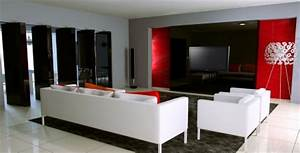 decoration salon rouge et blanc With deco salon rouge et blanc
