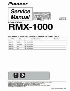 Service Manual For Pioneer Rmx