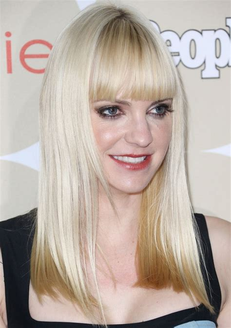 anna faris long hairstyles 2014 blunt straight hairstyle