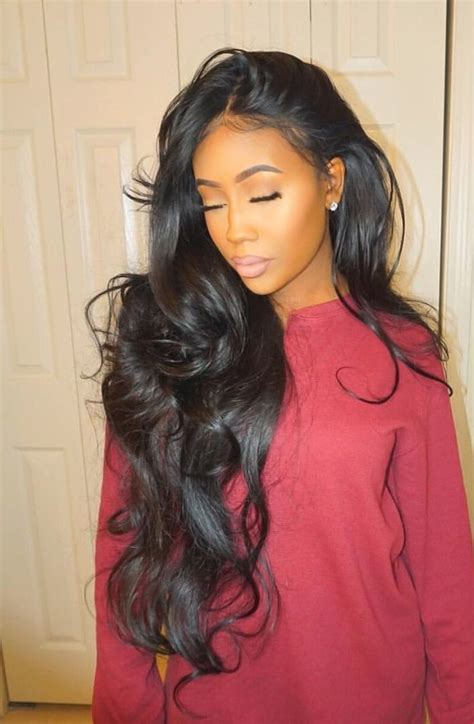 long wavy sew in hairstyles fade haircut