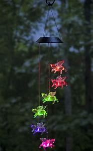 Color-Changing LED Solar Flying Pigs Mobile Fresh Garden