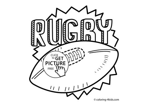 Rugby Kleurplaat by Rugby Sport Coloring Page For Printable Free 2