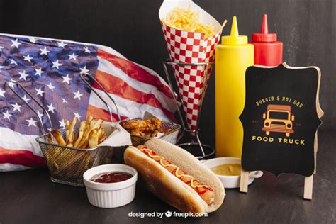 If you are hungry for free food and beverages mockups, you've come to the right place: American fast food mockup   Free PSD File