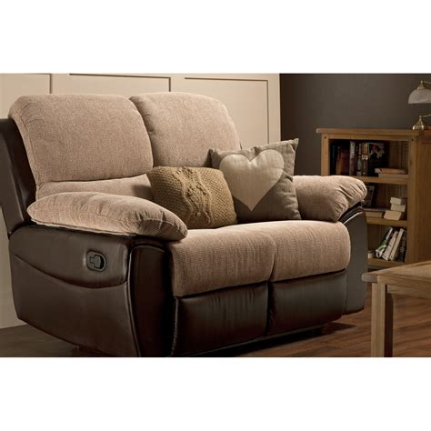 sofa with two recliners 2 seater recliner sofa fabric microfiber sleeper sofa