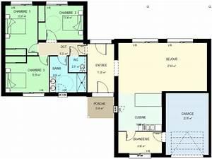 beautiful plan maison moderne plain pied photos amazing With plan de maison contemporaine gratuit