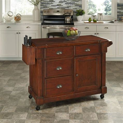 cherry kitchen island home styles the aspen rustic cherry kitchen cart with