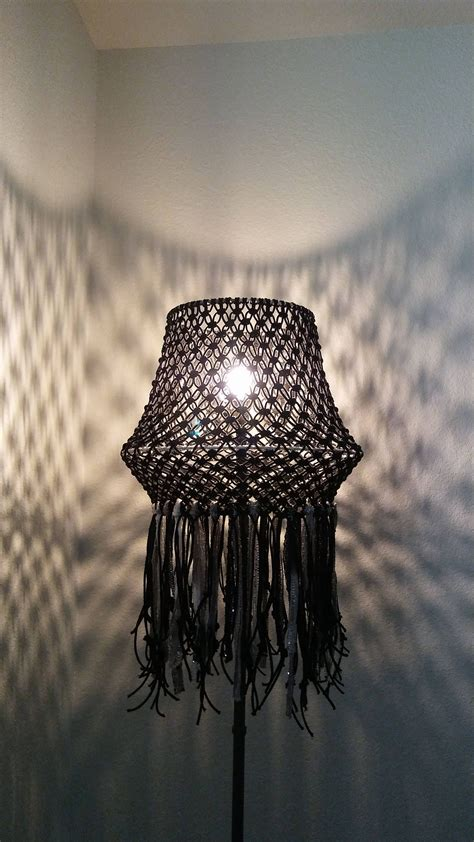 macrame lamp shade lighting home decor bohemian