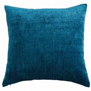 Coussin Bleu Canard : coussin en tissu bleu canard 45x54cm vintage velvet maisons du monde ~ Teatrodelosmanantiales.com Idées de Décoration