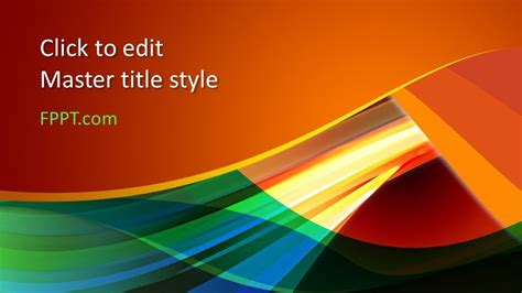 Free Color PowerPoint Template - Free PowerPoint Templates