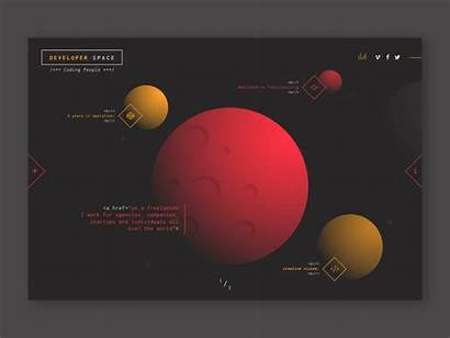 Space Themed Website Incredible Ui Materials Inspiration