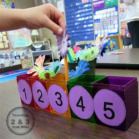 preschool counting activity  spring
