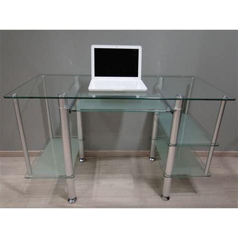 bureau informatique en verre bureau adulte en verre trempé et opaque 5 achat