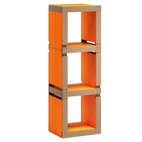 le de bureau orange etagère de bureau design orange structure ou bois