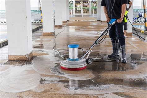 Artistic Floor Cleaning Services Concept