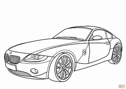 Bmw Coloring Z4 Pages Coupe Printable I8