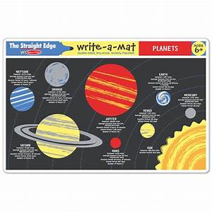 Planets Coloring Learning Placemat - Educational Toys Planet