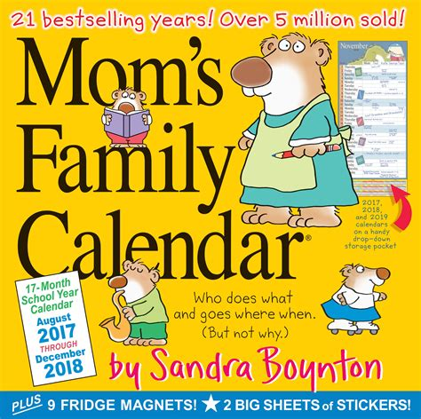 moms family wall calendar sandra boynton amazon