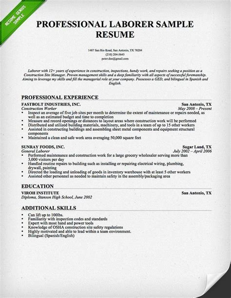 need help writing your construction resume use our resume