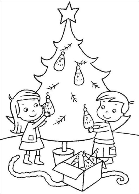 Kerstman En Kerstboom Kleurplaat by Kleurplaat Kerstmis Meer De Kerstboom Versieren