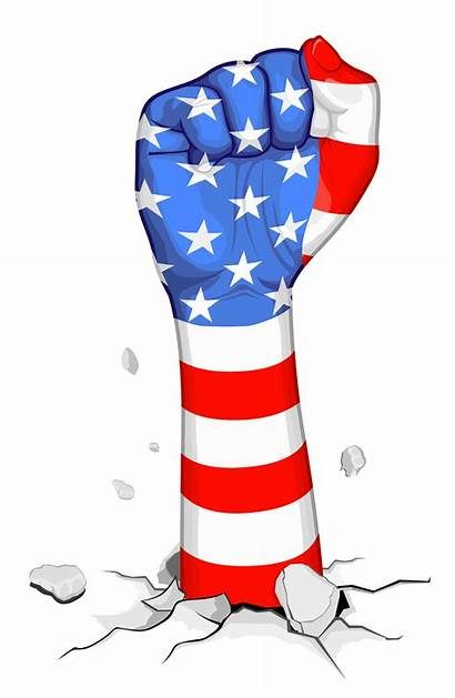 Flag American Clipart Clip Fist Usa July