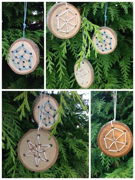 holzarbeiten mit kindern zu weihnachten christbaumanhaenger weihnachtszeit