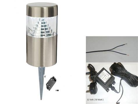 stainless steel outdoor garden light spike 12 v volt 30