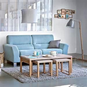 Canapé Bleu Clair : comment bien choisir la couleur du canap de salon ~ Teatrodelosmanantiales.com Idées de Décoration