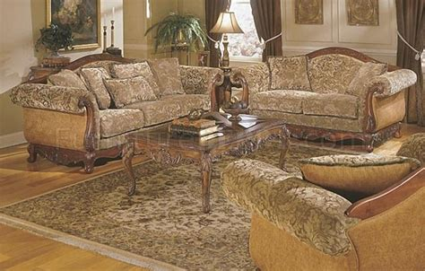 barcelona  pc sofa set  floral chenille  homelegance